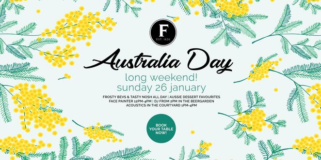 australia day 2020 at the fiddler, community event, fun tings to do, face painter, beer garden, acoustics in the courtyard, alfresco courtyard, chilled bevies, australian food specials, aussie inspired desserts, live music, sunday social