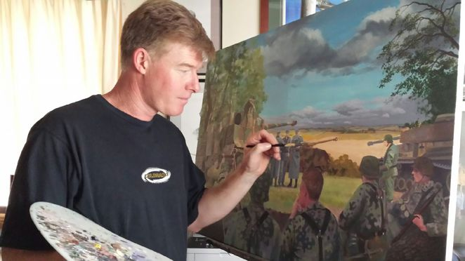 Barry Spicer, Military Artist at The Tea Tree Gully Library