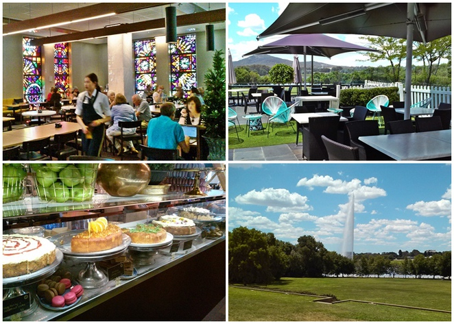 bookplate cafe, canberra, national library of australia, cafes with views, lake burley griffin, ACT, coffee, views, lookouts,