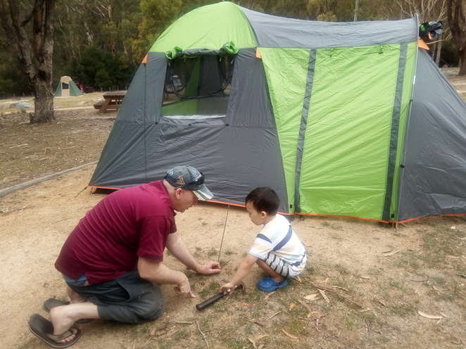 Camping at Woods Reserve