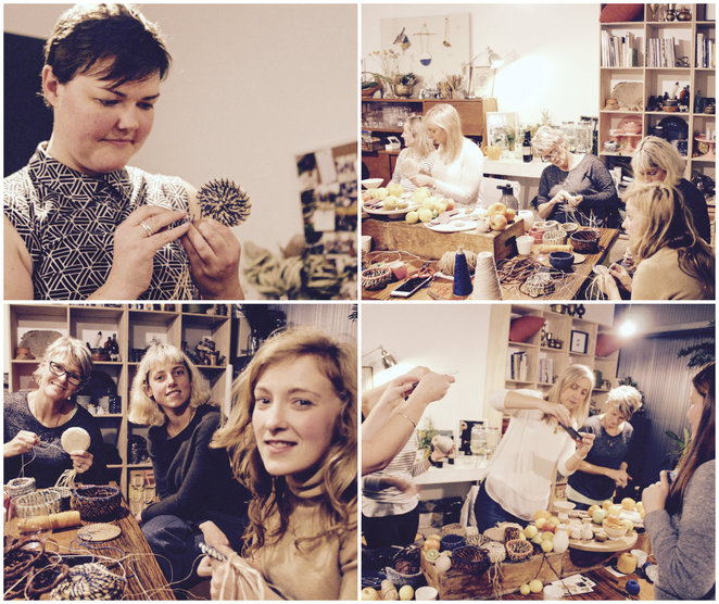 coil basket weaving workshop review, put your heart into it, roz slade, making baskets with rope, fabric baskets, yarn baskets, textile design, be kind, mindful textiles, big bang studios, laura issell, eco conscious, sustainable, creative, upcycled, recycled,