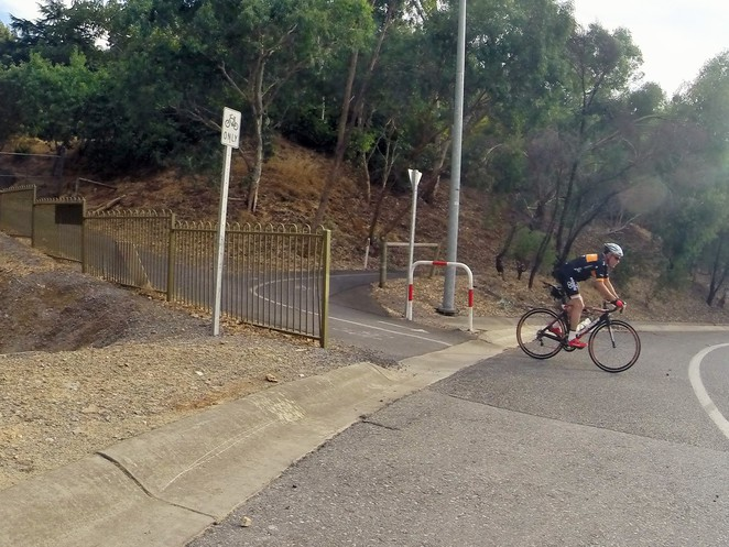 Crafers Bikeway, Eagle on the Hill, Adelaide Hills Bikeway, Pioneer Womens Trail, Old Bullock Track, Mt Lofty Summit, Bollards, Tollgate