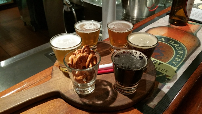 Craft Beer Tasting Paddle at Mrs Parma's