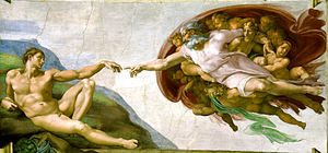 CreatioThe Creation of Adam at the Sistine Chapel by Michelangelogelo