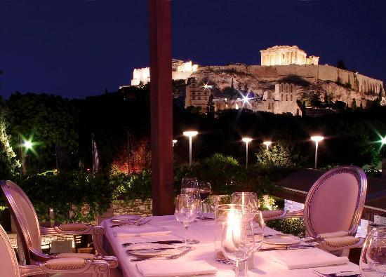 Dionysos Restaurant. Pierce Brosnan at Dionysos Restaurant Greece. Celebrity restaurants Greece