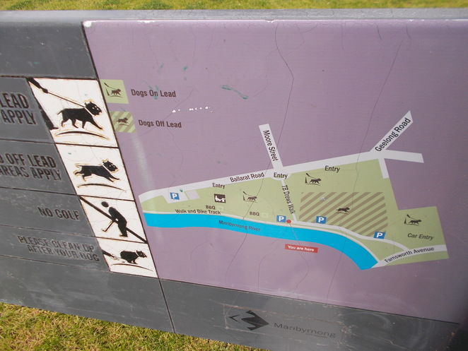 dog dogs footscray park off leash map