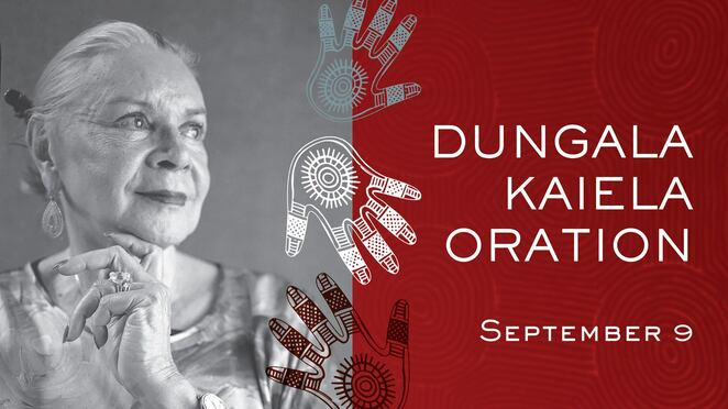 dungala kaiela oration 2020 dr lois peler am, community event, fun things to do, education, the university of melbourne, free oration event, yorta yorta woman, aboriginal, defining goulburn murray oration, kaiela institute, university of melbourne, aboriginal cultural identity
