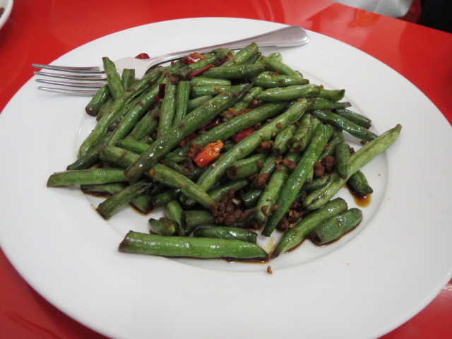 Fushun Noodle and Dumpling, Fried String Beans with Pork Mince, Adelaide