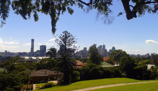 View of Brisbane from Highgate Hill
