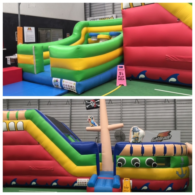 Inflatable World Maroochydore, school holidays, indoor playground, bouncing, climbing, balancing, sticking to walls, unusual venue, birthday parties, corporate events, team building, end of year functions, sports team get-togethers, school trips, holiday programmes, socks, on-site cafe, on-site parking