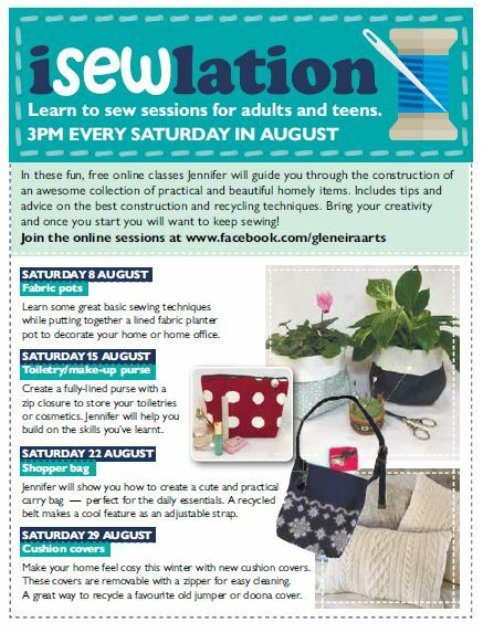 isewlation 2020, free online sewing classes, glen eira city council arts and culture, soul stitches sewing classes, glen eira city council, community event, fun things to do, online sewing classes, sewing instructional videos, tips and advice for sewing, fun activity, craft