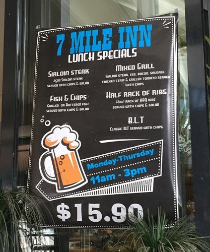 Lunch,specials,at,Seven,Mile,Inn