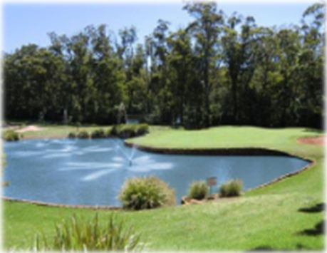 middle ridge golf club toowoomba water feature