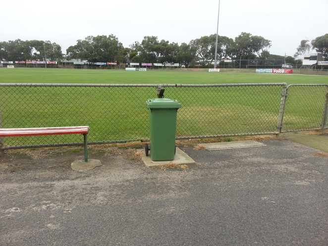 Ocean Grove Memorial Recreation Reserve, The Avenue, Ocean Grove, oval, grass, sport, cricket, football, rubbish bin, seats,