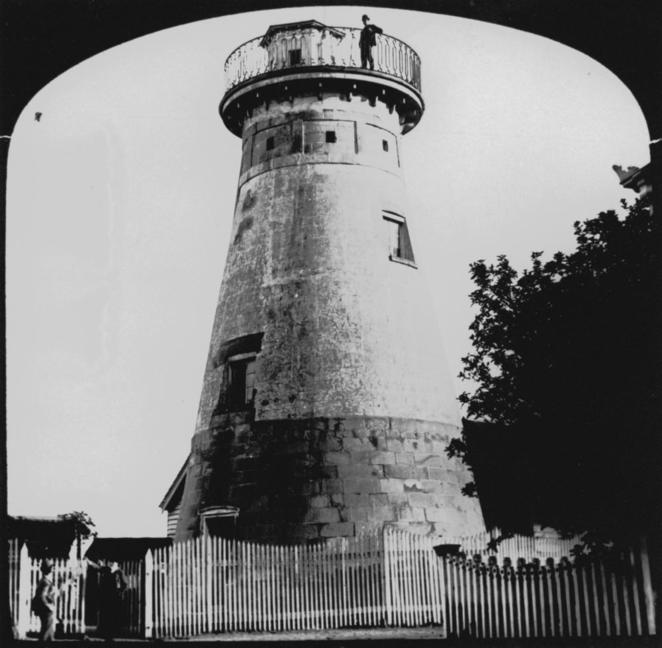 old windmill, windmill tower, brisbane, observatory, history