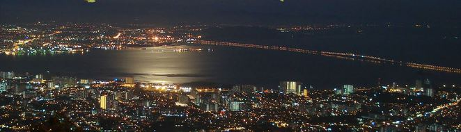 Penang Hill, Georgetown, Panoramic view, Night view