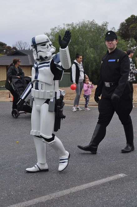 playford community Christmas pageant, santa, band, clowns, sport, community groups, pageant