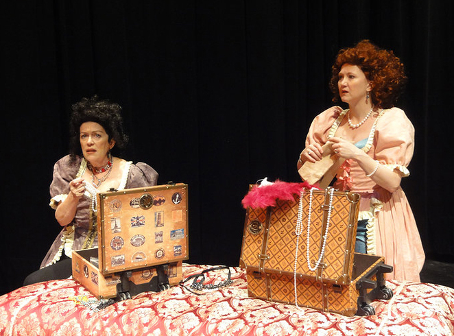 Possessions, play, Newtown, King Street Theatre, Jane Bergeron, Carrie Ann Quinn, Mancini Sisters, 17th Century, France