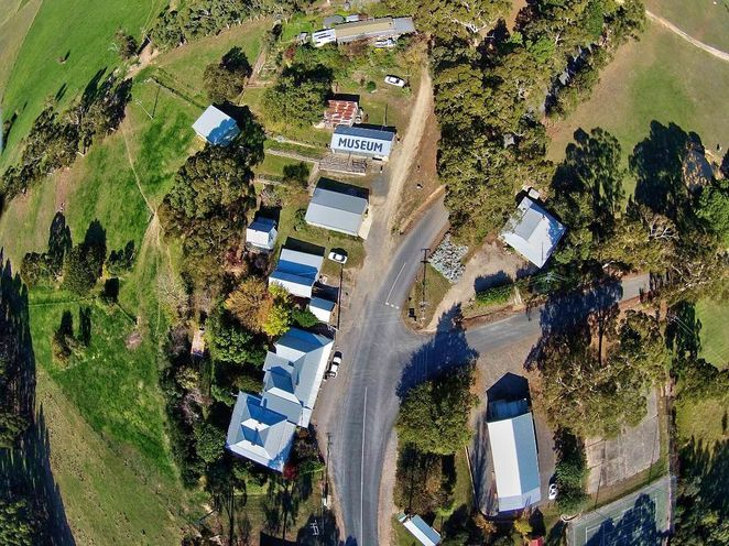 prospect hill historical museum, prospect hill museum, prospect hill, adelaide hills, museum, south australia, kuitpo forest, historical museum, meadows, aerial photo