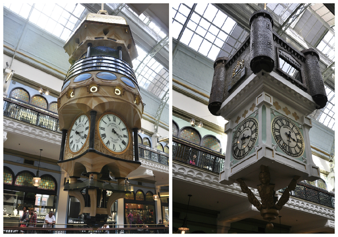 The Majestic Clocks inside QVB (image courtesy Chetan Prusty)