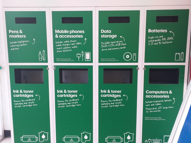 recycling, electronic, officeworks