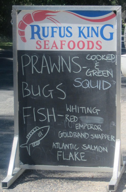 Rufus King Seafoods, Ashgrove, Amity Point, mobile seafood van, delivery service, trawlers, fish, prawns, crabs, oysters, scallops, mussels, squid