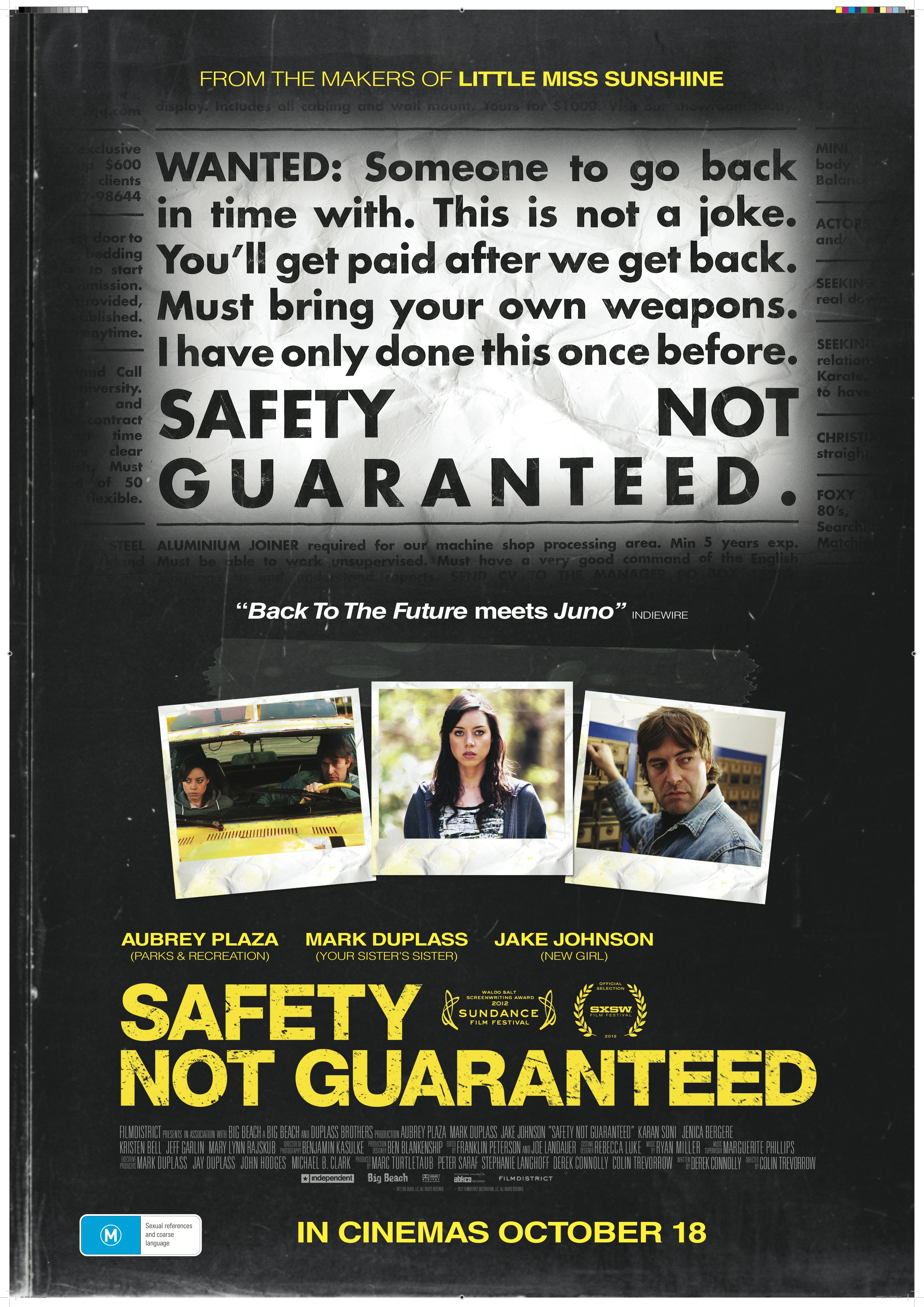safety not guaranteed film review everywhere