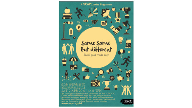 same same but different, scape, youth festival, free workshops, organic shampoo, light bulb, sign language, NGO, non profit, free event, Singapore youths