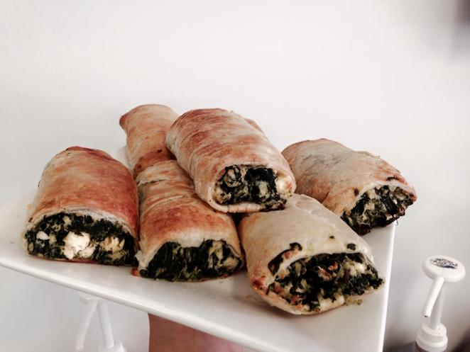Ricotta and spinach rolls