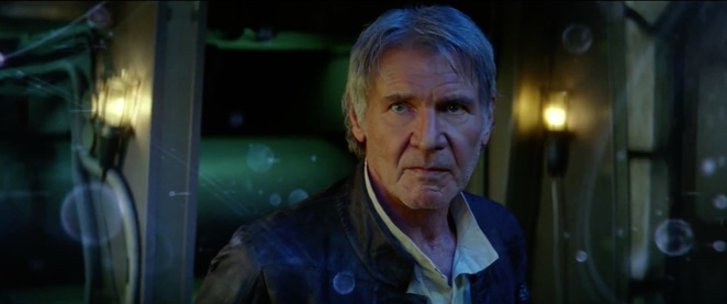 Star Wars The Force Awakens - Han Solo played by Harrison Ford