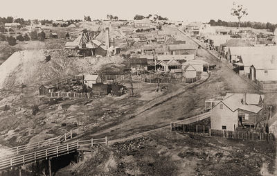Stawell Street, during the Gold Rush (Geelong Heritage Centre)