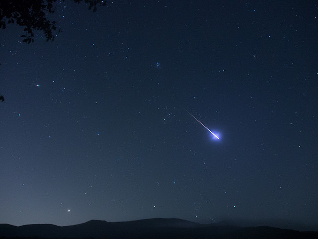 Photo of a meteor fireball streak courtesy of Kim Myoungsung @ Flickr