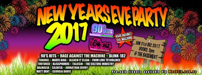 the basement, canberra, ACT, new years eve, 2017, events, live music, bands, nightlife,