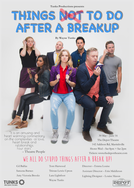 Things Not To Do After A Breakup, Wayne Tunks, Depot Theatre, Review by Jade Jackson