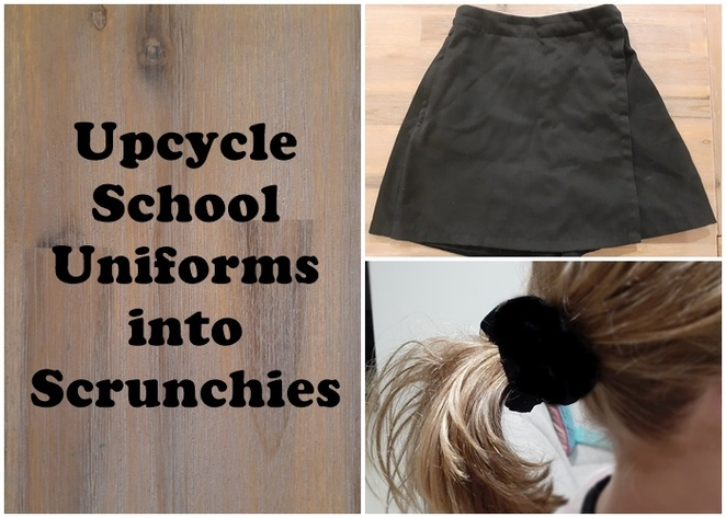 up cycle clothes, recycle clothes, upcycle, thrifty, crafts, how to recycle clothes, how to upcycle clothes, australia, old clothes, second hand clothes, clothing, singlet, notebook, upcycle, make gifts, school uniforms, skorts, skirts, kids, children, scrunchies, hair elastics,