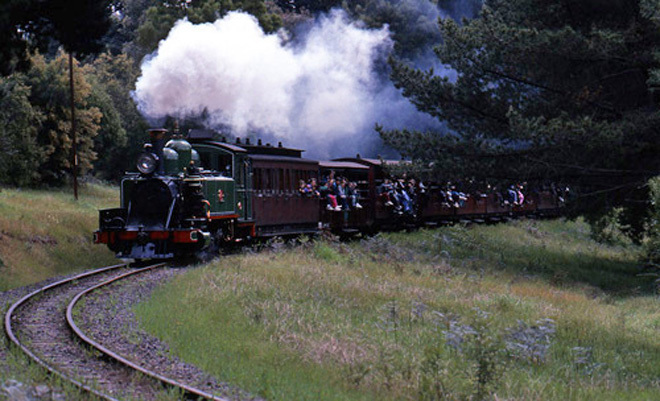 Victoria Melbourne Puffing Billy Belgrave Menzies Creek Emerald Lake Train Trains Railway Railways Dandenong Ranges