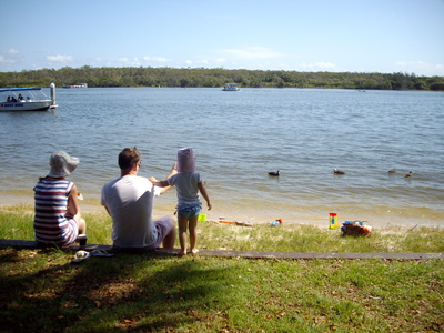 Sitting by the Noosa River