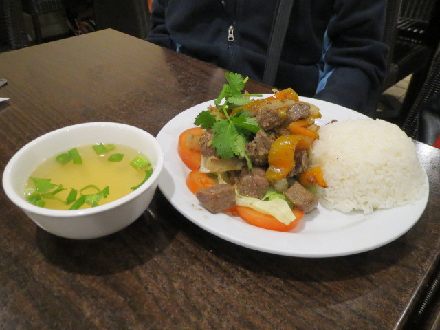 Yen Linh Vietnamese Restaurant, Diced Beef Steak and Onions with Rice, Adelaide