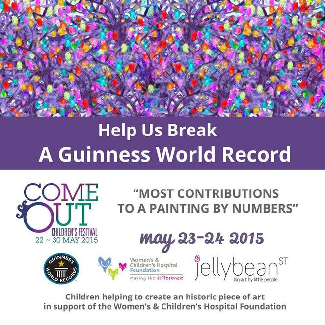 Children can add their fingerprint to the painting that will be transformed into Jellybeanstreet modern art and sold online.