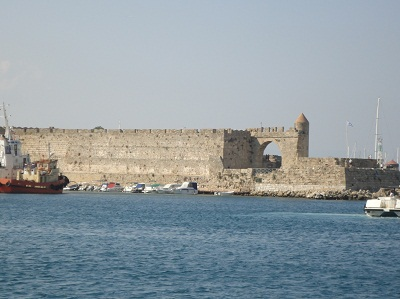 A Section of Rhodes Harbour Wall