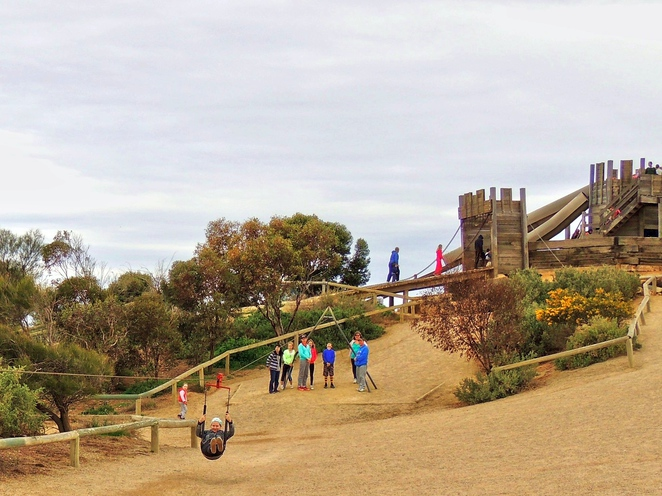 adventure playground, playground in adelaide, play equipment, st kilda playground, st kilda adventure playground, tram museum, activities for kids, family entertainment, fun things to do, flying fox