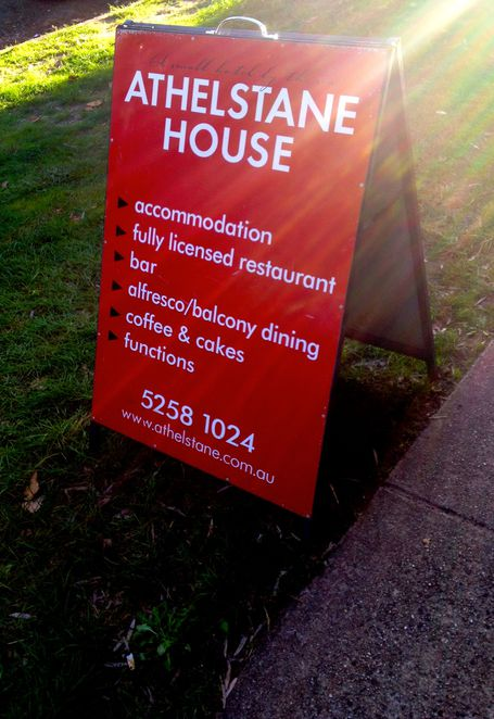 Athelstane House, Queencliffe, wine and dining, dining, lunch, wine, accommodation