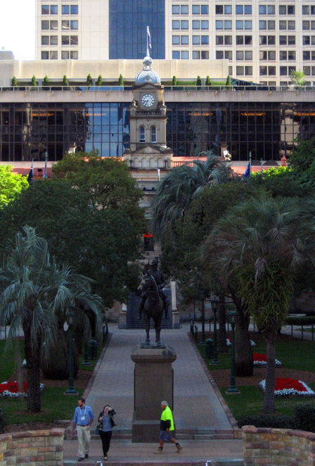 Central Station and ANZAC Square seen from Post Office Square