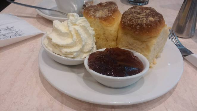 buttermilk scones with jam and cream the shingle inn