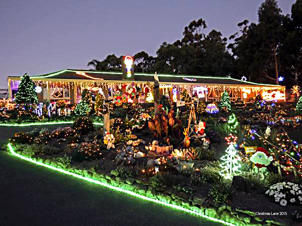 Christmas, lights, display, pegandbill, Lobethal, 2016,
