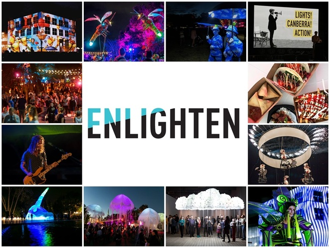 enlighten, 2018, night noodle markets, events, illuminations, ACT, festivals, art, performances, shows,