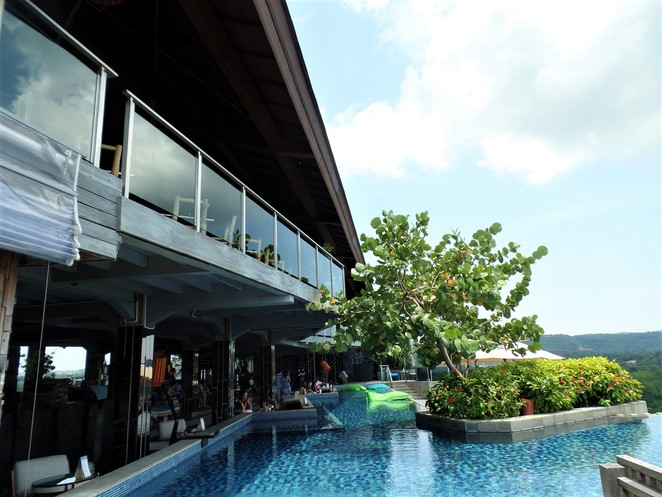 exterior of UNIQUE Rooftop Bar & Restaurant at Rimba Jimbaran Bali by AYANA