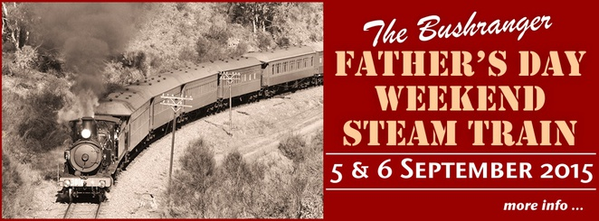 Fathers Day weekend, Canberra Railway Museum, September 5th, September 6th 2015