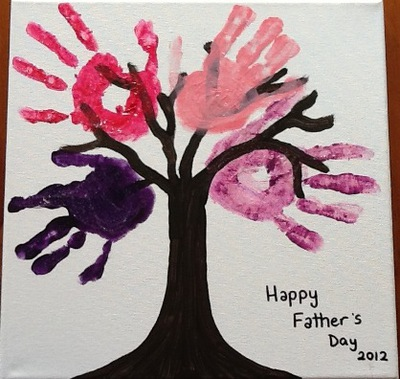 Handprint Tree Canvas