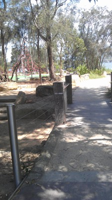 Pathway to play areas
